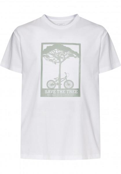 Mahagony T-Shirts Save Tree white-grey Vorderansicht