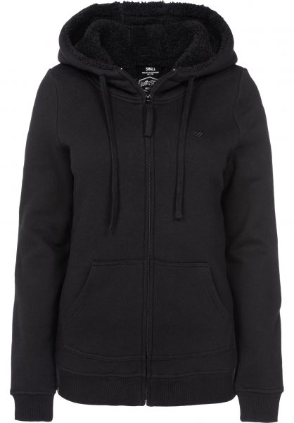 TITUS Zip-Hoodies Bruno Girls black-black Vorderansicht