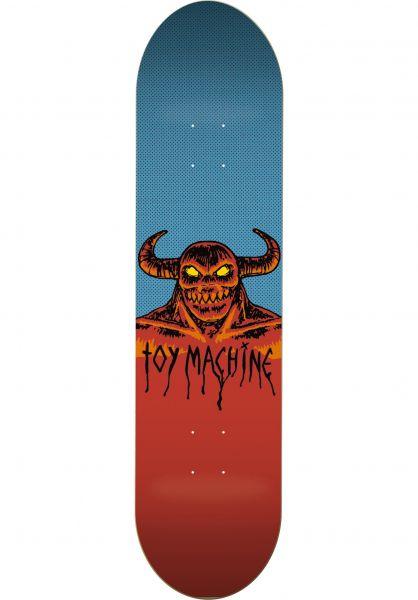 Toy-Machine Skateboard Decks Hell Monster blue Vorderansicht