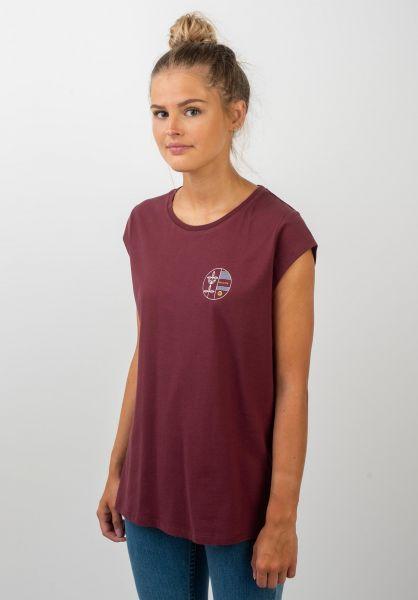TITUS T-Shirts Vanya darkburgundy vorderansicht 0399304