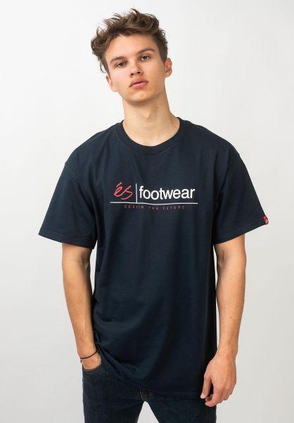 ES T-Shirts Modern Heritage navy vorderansicht 0320683