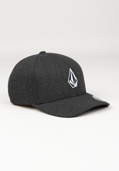 Volcom Caps Full Stone HTHR XFIT charcoalheather vorderansicht 0565962
