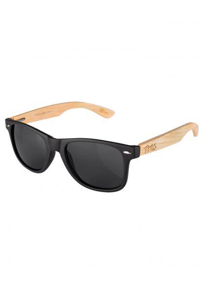 TITUS Sonnenbrillen PLaSoo black-bamboo-black Vorderansicht