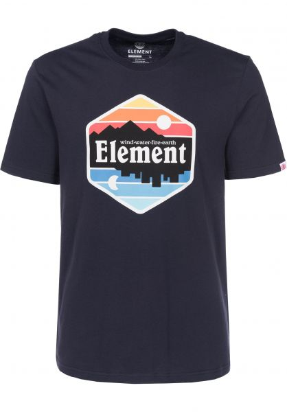 Element T-Shirts Dusk eclipsenavy Vorderansicht