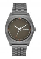 nixon-uhren-the-time-teller-allgunmetal-slate-orange-vorderansicht-0810087