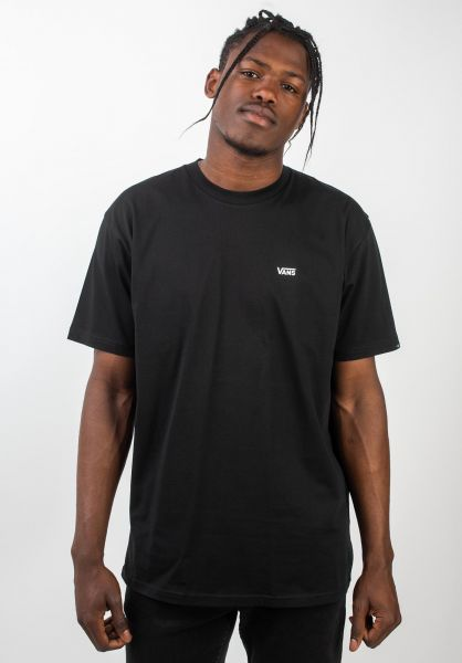 Left Chest Logo Vans T Shirts In Black For Men Titus