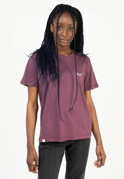 Reell T-Shirts Womens Logo plumpurple vorderansicht 0324098