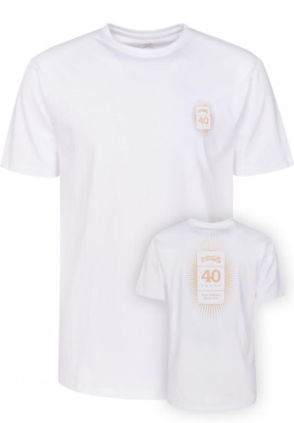 TITUS T-Shirts 40-Years-Backprint white vorderansicht 0398293
