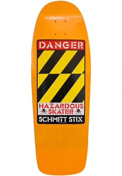 Schmitt-Stix Skateboard Decks Danger orange Vorderansicht