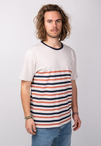 Rules T-Shirts Samu navy-orange-striped vorderansicht 0398506