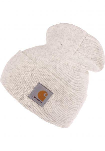 Carhartt WIP Mützen Acrylic Watch Hat ashheather Vorderansicht