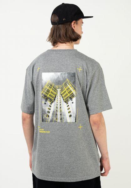 TITUS T-Shirts Perspective greymottled vorderansicht 0321930
