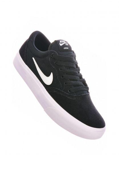 Nike SB Alle Schuhe Chron Solarsoft black-white-black vorderansicht 0612573