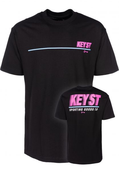 Key Street T-Shirts Sporting Goods black vorderansicht 0399527