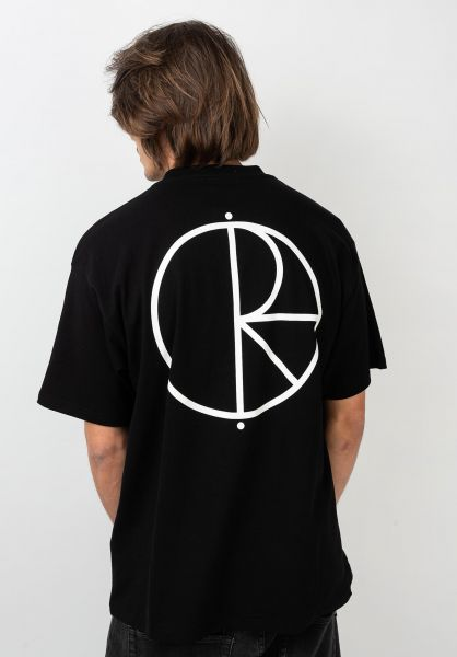 Polar Skate Co T-Shirts Stroke Logo black vorderansicht 0379773