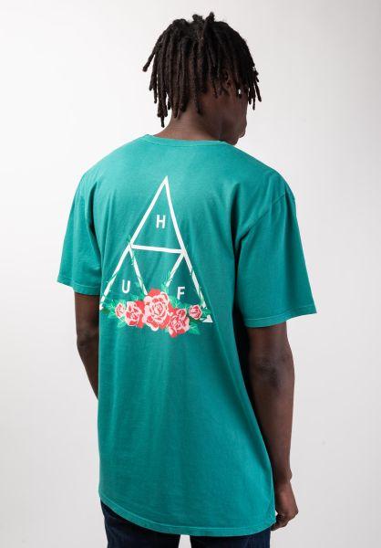 HUF T-Shirts City Rose deepjungle vorderansicht 0320061