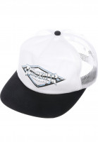 Thrasher Caps Diamond Emblem Trucker Hat white-black Vorderansicht