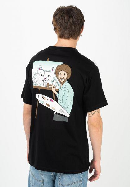 Rip N Dip T-Shirts Beautiful Mountain black vorderansicht 0321741