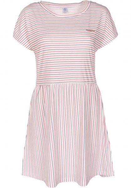 Mazine Kleider Lena navy-red-striped vorderansicht 0801409