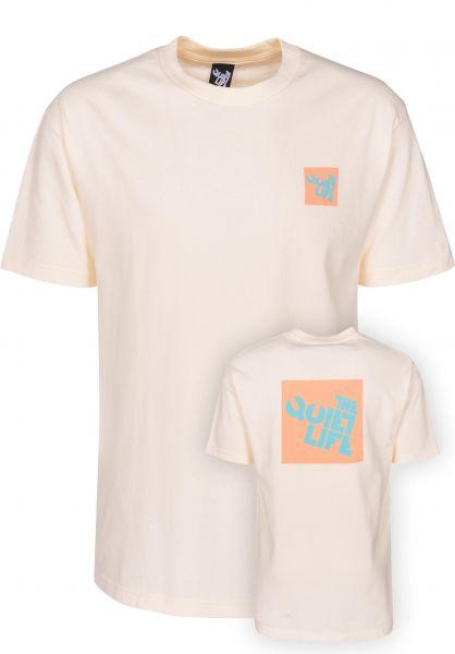 The Quiet Life T-Shirts Block Logo T cream Vorderansicht