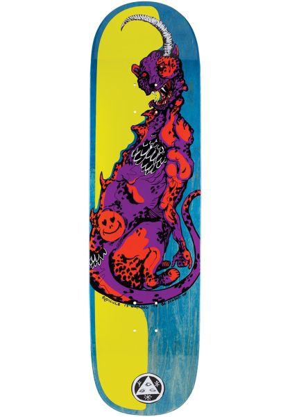 Welcome Skateboard Decks Cheetah Big Bunyip purple-orange vorderansicht 0262790