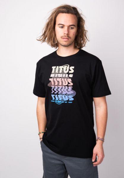 TITUS T-Shirts Scans black vorderansicht 0398354