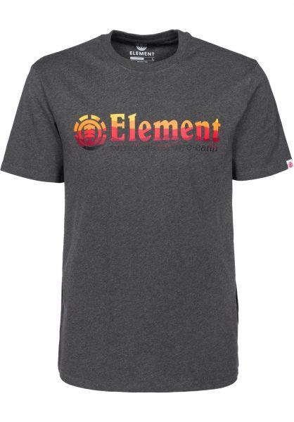 Element T-Shirts Horizontal charcoalheather Vorderansicht