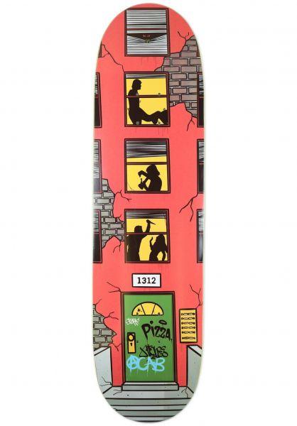 Pizza Skateboards Skateboard Decks Neighbors red vorderansicht 0268152