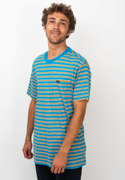 RVCA T-Shirts Vincent Stripe bluecruz vorderansicht 0320144