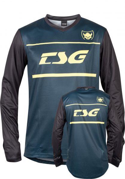 TSG Longsleeves Plain Jersey blue vorderansicht 0382966