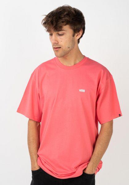 Vans T-Shirts Left Chest Logo calypso-coral vorderansicht 0397675