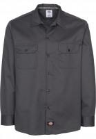Dickies Hemden langarm Work Shirt Slim charcoal Vorderansicht