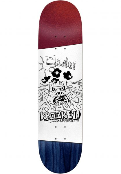Krooked Skateboard Decks Worrest Truths Twin Tail Slick red-white-blue vorderansicht 0263392