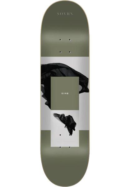SOVRN Skateboard Decks Iki 3 green vorderansicht 0262235