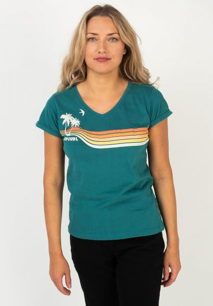 Rip Curl T-Shirts Golden Days jade vorderansicht 0322152