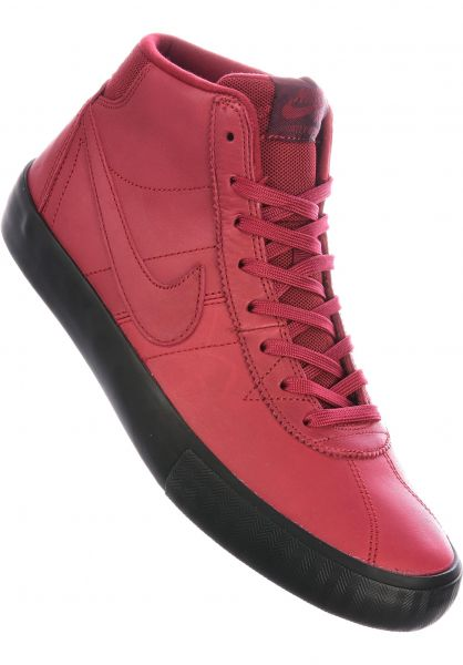 Nike SB Alle Schuhe Bruin Hi Orange Label Leo Baker teamred-nightmaroon-black vorderansicht 0604768