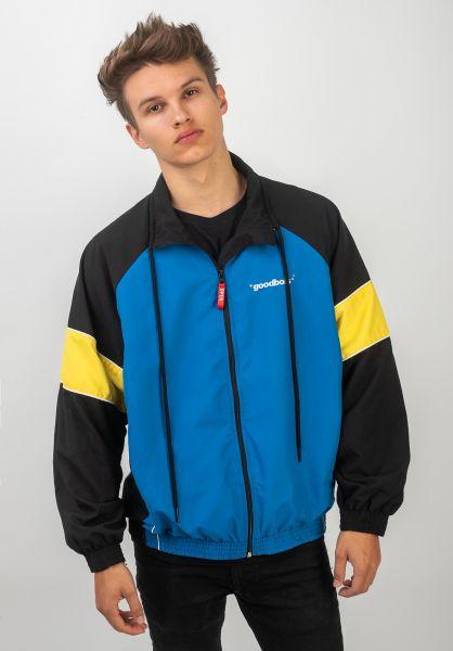 Goodbois Übergangsjacken Official Racing Jacket black-yellow-blue vorderansicht 0504484