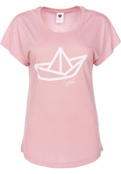 Ezekiel T-Shirts Paper Boat mistyrose Vorderansicht