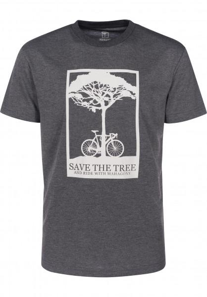 Mahagony T-Shirts Save blackmelange Vorderansicht