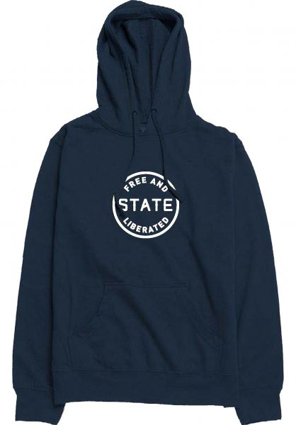 State Hoodies Free And Liberated navy vorderansicht 0445348