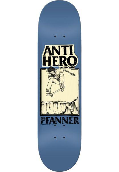 Anti-Hero Skateboard Decks Pfanner x Mountain lightblue vorderansicht 0263638