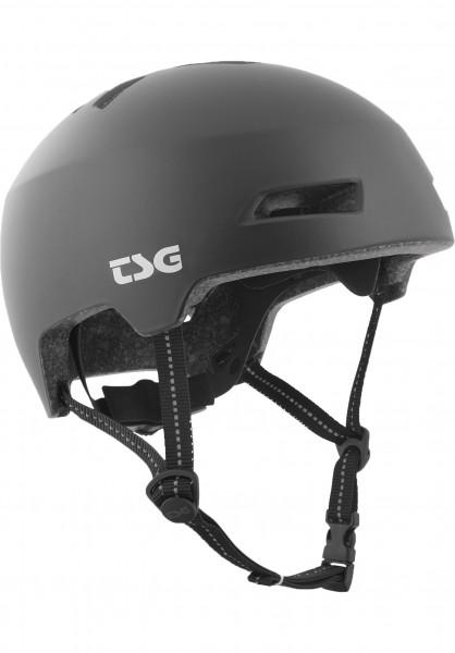 TSG Helme Status Solid Color satin-black Vorderansicht