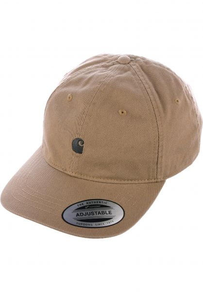Carhartt WIP Caps Madison Logo Cap leather-darknavy vorderansicht 0565940