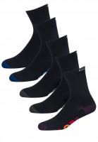 Globe-Socken-Multi-Stripe-Crew-5-Pack-black-Vorderansicht