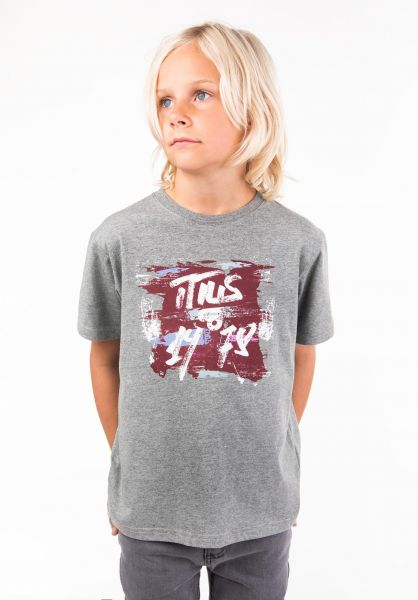 TITUS T-Shirts Paint Kids greenmottled vorderansicht 0397389