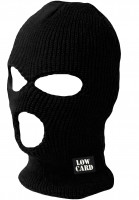 Lowcard Mützen Negotiator Face Mask black Vorderansicht