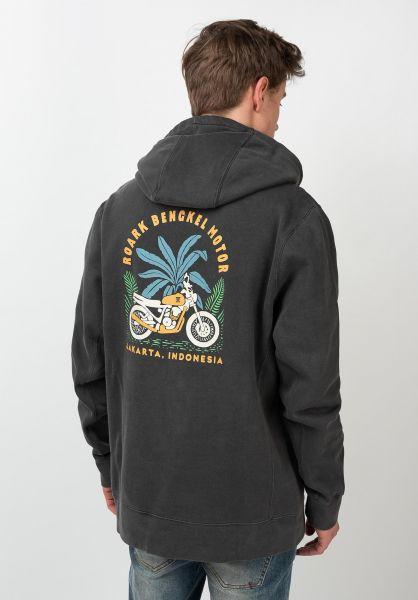 Roark Hoodies Bengkel Moto Fleece black vorderansicht 0445907