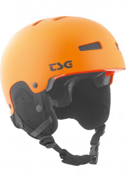 TSG Snowboardhelme Gravity Solid Color Kids satin orange Vorderansicht