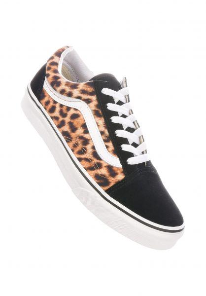 Vans Alle Schuhe Old Skool leopardblack-truewhite vorderansicht 0611965