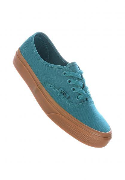 Vans Alle Schuhe Authentic Classic quetzalgreen-gum vorderansicht 0611322